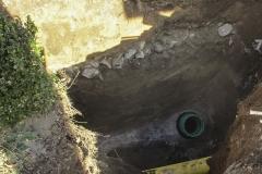 Anbohrung eines Kanals - Ein eingebautes, flexibles Sattelstück.