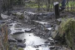 Bachsanierung - Nach einem Überschwemmungsschaden wurde die Uferbefestigung neu aufgebaut.