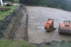 Reitplatzsanierung - Die Bilder zeigen den Verlauf der Bauarbeiten, ...