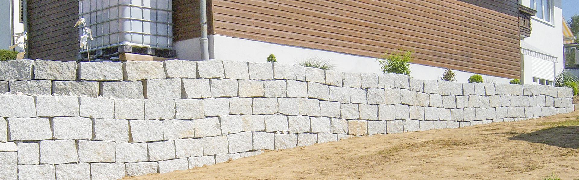 Trockenmauer / Natursteinmauer
